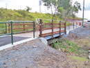 Bike Bridge on Steel Frame Lockyer Rail