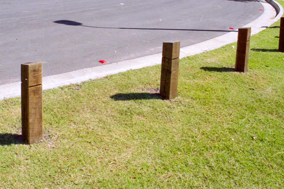 Outdoor Structures Australia's Baychester timber bollard range