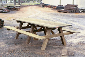 Model BBQ D1 park table extended to 2.7m