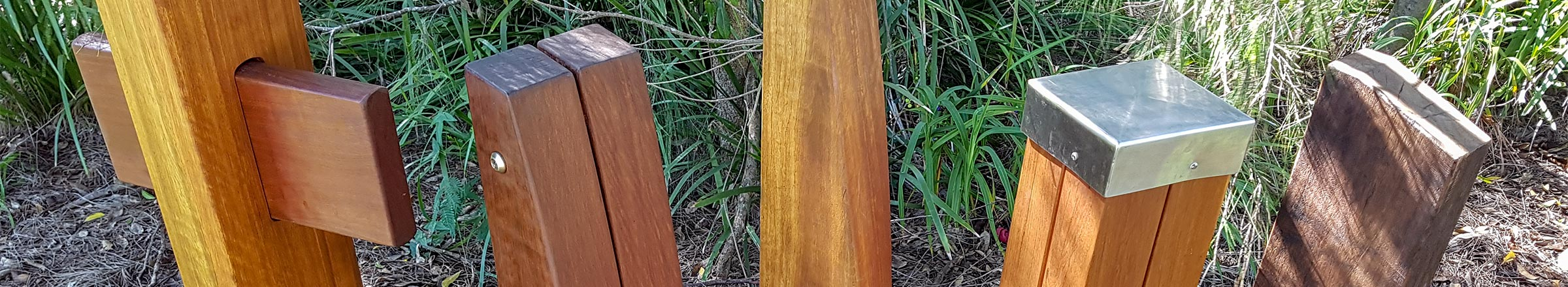 Timber Bollards from Outdoor Structures Australia