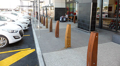 Outdoor Structures Australia's Double Eclipse timber bollards
