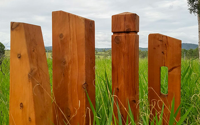 Outdoor Structures Australia's Qld. Cypress Timber Bollards