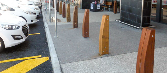 Outdoor Structures Australia's Double Eclipse timber bollard