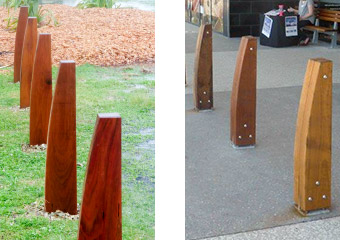 Outdoor Structures Australia's Eclipse timber bollard