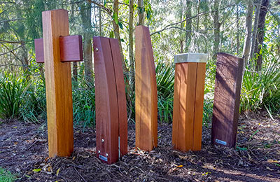 Outdoor Structures Australia's Double Eclipse timber bollard range