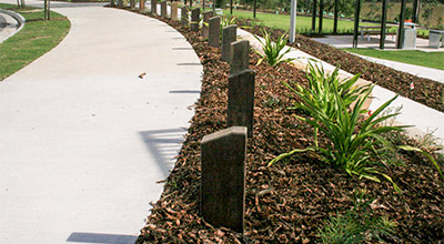 Outdoor Structures Australia's Heavy-duty timber bollard range