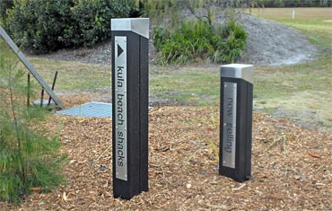 Pioneer™ Posts with signage from Outdoor Structures Australia