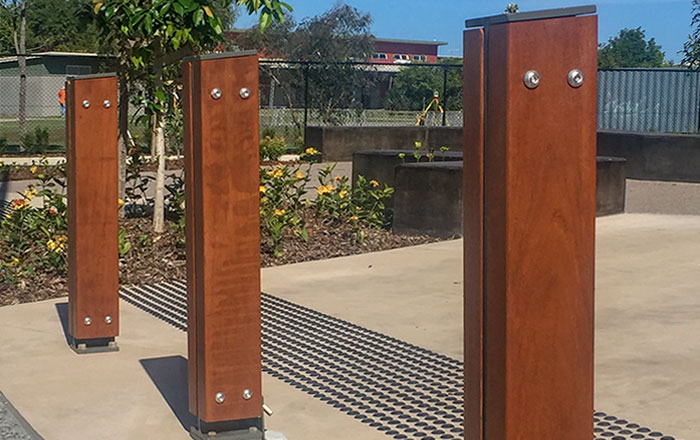 Outdoor Structures Australia's 'Shore' Timber Bollards
