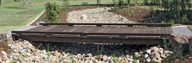 Swale Drain Timber Bridges from Outdoor Structures Australia